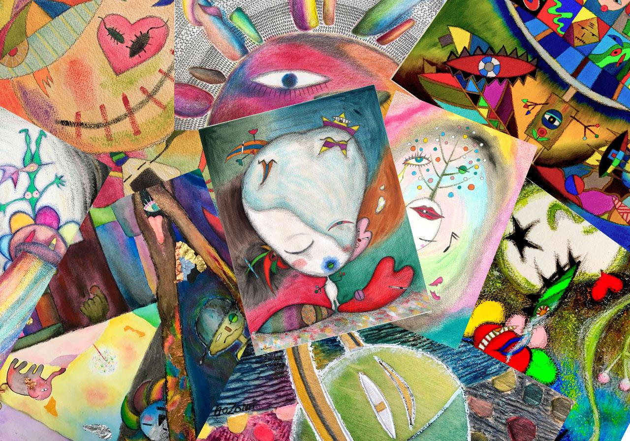 (Scramble=ごちゃ混ぜにする)如く、型も枠組みも取り払い、手や道具で創り出すアート、そして声・身体全体で生み出すアート、そんな色々を織り交ぜて、この世にとてつもなく元気な波動を贈りたい